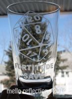 D20 Etched Glass by MelloReflections