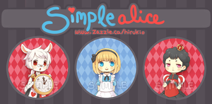 Simple Alice Button Set by Hirukio