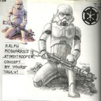 Ralph McQuarrie Stormtrooper by Aeruhl