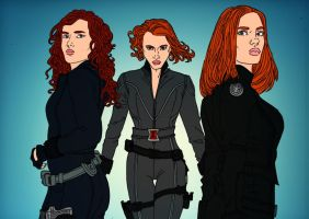 Black Widow Evolution by Comicbookguy54321