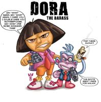 Dora the Badass by elmorafocka