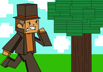 Layton in the minecraft world (RP) by TopHatLycanthrope