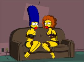 Marge and Maude in an Underwear Pickle by Fusilli-Jerry