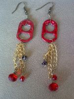 Red Can Tab Dangles by dollfacetosomeone