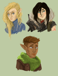 dragon age heroes by Aelwen