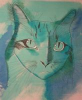 Kitty in Blues by approachableart