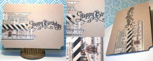 Card: Birthday 1880 w/Banners by kendravixie