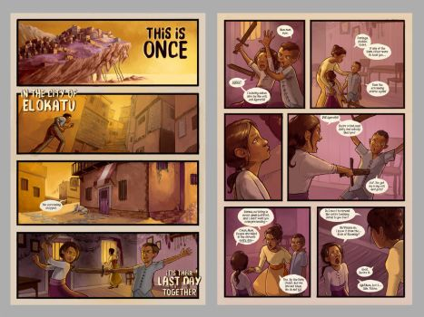 Schismatic Pages 3 and 4 by RachaelBriner