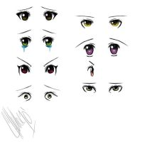 Anime Eyes by Danerboots