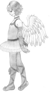 Doodle Angel by RomeOinDraG