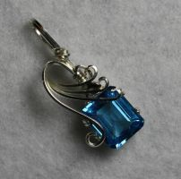 Swiss Blue Topaz Pendant by skezzcrom