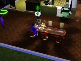 Sims 3 - Denise joins for breakfast first by Magic-Kristina-KW