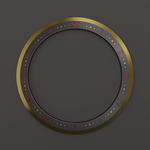 Time of Death Chakram Gold Edge 3D (Front View) by Shadow696
