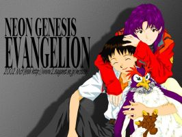 Misato and Shinji Wallpaper by Misato-x-Shinji-Club