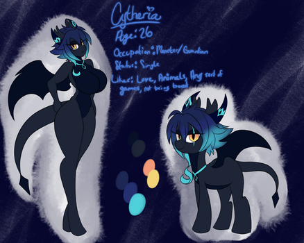 Cytheria ref sheet by Solratic