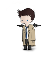 Castiel by musicalirony