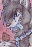 :ACEO trade:'Chocolate Lover': by LostDreamer92