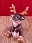 Rudolph/ Rudolph red nosed reindeer figurine by MyselfMasked