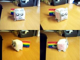 Nyan Cat Cube Plushie by Cube-lees