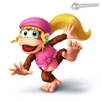 Dixie Kong Smashified Transparent by Sean-the-Artist