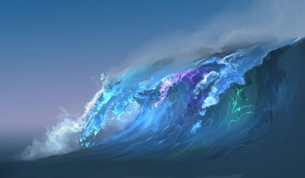 Wave Of Color by aerroscape