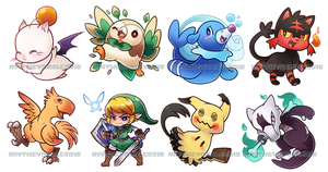 New Chibi Charms! by RinTheYordle