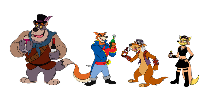 Commission - Talespin Pirates by FantasyFlixArt