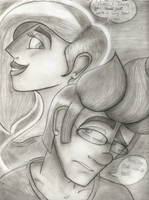Abbi And Theo Cover A - Pencil Variant by CosmicChrissy