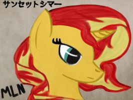 Sunset Shimmer (colored) by MyLittleNinja