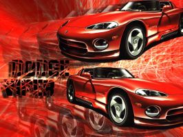 Red Dodge Viper by makct04