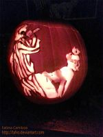 Miley Twerking Pumpkin by taho