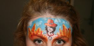 Ace One piece Face paint by Blueberrystarbubbles