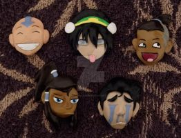 Avatar and Korra Magnets by HeyLookASign