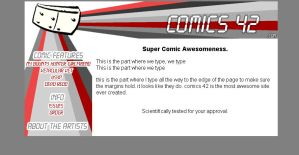 Comics 42 Site Design by yooki42