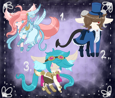 Return Of The Alien Kitty's 4 Adoptables CLOSED by HerpAdopts