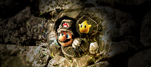 Mario in the wall by Goten-design