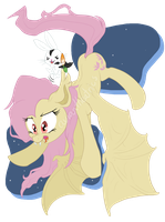 Flutterbat and Angel-Bunnicula -BUY THE SHIRT!! by Yoshii-Hikari