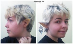 Elf ear prosthetics by DawnKestrel