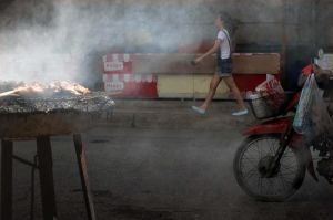 Grilled chicken for sale. by Bearhawk07