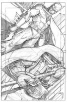Batman-Donatello pencils by scribblesartist