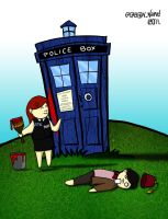 Painting the TARDIS by tonks1988