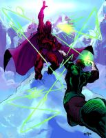 Magneto VS Green Lantern by jonathan-rector