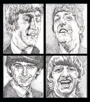 The Beatles stipling project by rori77