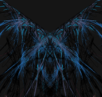 Black and Blue Butterfly by fractalfantasyworlds