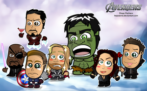 The Avengers Chibi Wallpaper by kapaeme