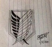 Attack on Titan logo by Cindypp0