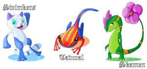 Contest Entry: Starter Fakemon by AlphaXXI