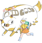 Satsuki, Mei, and the Catbus by Deighvid