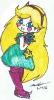 Chibi Star Butterfly by Mischief-Soul-Lover