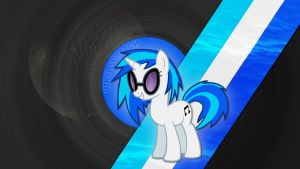 Vinyl Scratch (a.k.a. DJ Pon-3) Wallpaper by Pappkarton